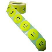 Inventarisetiketten met opeenvolgende nummering in kleine serie