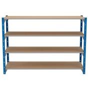 Set van 4 houten isorel legplanken voor Archiv'Pro breedte 150 cm