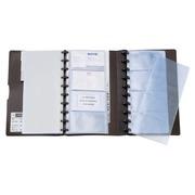 240 business card holders Géode 130 x 250 mm - black