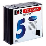 Pack 5 standard CD-Hüllen