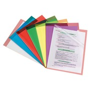 Box, 100 corner files Bruneau, transparent, Polypropylene 9/100th, assorted colours
