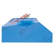 Couverture de reliure plastique 20/100e Fellowes bleue - Paquet de 100