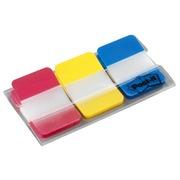 Set 3 index Post-It Strong rood/geel/neon blauw