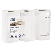 Papier toilette quadruple épaisseur Tork Premium Confort - 42 rouleaux de 153 feuilles