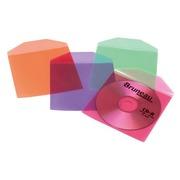 Set 50 Hüllen CD mit Klappe sortierte Farben T'nB