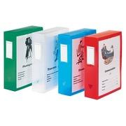 Boîte de classement plastique Viquel personnalisable dos 8 cm incolore