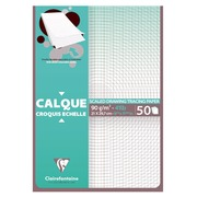 Packet of tracing paper satin Clairefontaine A4 90-95g 50 sheets