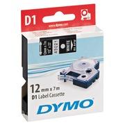 Ruban polyester Dymo D1 S0720610 12 mm noir écriture blanche