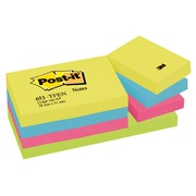 Notes repositionnables couleurs Energie Post-it 38 x 51 mm - bloc de 100 feuilles