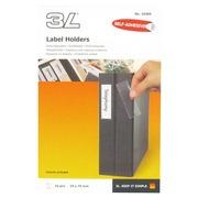 Porte-étiquettes adhésif 19 x 75 mm 3L transparent - Boîte de 160