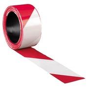 Ruban de signalisation rouge et blanc - 500 m x 8 cm
