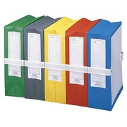Pochette archives à soufflet Fast standard à cordonnet dos 10 cm