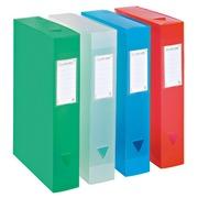Plastic storage box, back 8 cm - translucent assorted
