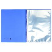 Omkeerbare documentbeschermer Exacompta Linicolor 60 hoesjes - blauw