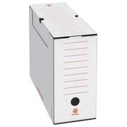 Weiße Archiv-Schachteln Rücken 10 cm JMB
