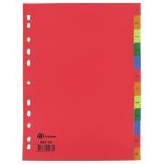 Set von monatlichen Registern JMB Französisch Polypropylen mit 12 Unterteilungen - mehrfarbig