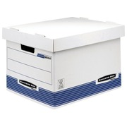 Caisse archives carton Bankers box by Fellowes standard H 29,5 x L 40,1 x P 33,5 cm bleue