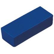 Blister 7 rectangular magnetic dots 28 x 10 x 7 mm