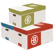 Archive boxes in cardboard Bruneau H 27 x W 55 x D 36 cm assortment