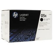 HP 05X - CE505XD Pack 2 toners haute capacité noir pour imprimante laser