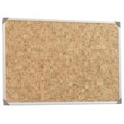 Comfortbord, kurk 120x90cm, kader in naturel alu
