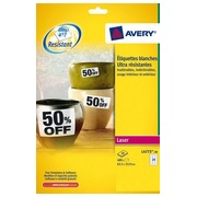 Box of 480 extremely strong labels 63,5 x 33,9 mm Avery L4773-20 - white