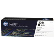 Pack of 2 toners HP 305X black