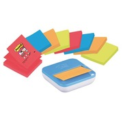 Pak verdeler + 8 gekleurde Z-Notes Super Sticky Post-it