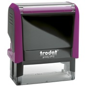 Stamp with purple ink