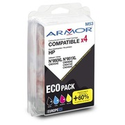 Pack cartridges Armor compatibel met HP 950 XL en 951XL 4 kleuren voor inkjetprinter