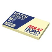 Herkleefbare notes geel Maxiburo formaat 75 x 125 mm