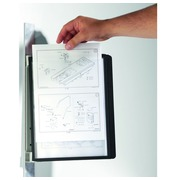 Magnetic wall-mounted document holder Durable Vario A4 5 sleeves black