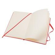 Carnet Moleskine rigide 9 x 14 cm ivoire sans quadrillage 192 pages - rouge