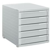 Module de classement Contur Han 5 tiroirs fermés gris