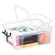 Boîte de rangement plastique 24 L Strata translucide