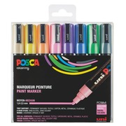 Marker Posca assorted pastel colours conical point 1.8 to 2.5 mm - Box of 8