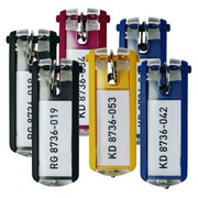 Bag of 6 label holders KEYCLIP for a cabinet with keys of Durable