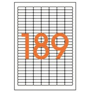 Box of 1890 address labels Apli for inkjet, laser and copier - white 25.4 x 10 mm
