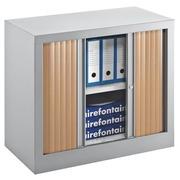 Rollladenschrank Monoblock Öko Dekor. H 70 x B 80 cm Gehäuse alu - buche
