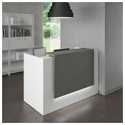 Compact reception desk Jana white/anthracite W 166 cm