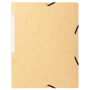Elasticated folder without flap 400gsm hard glazed mottled premium pressboard- A4 size - Ivory (5532E)