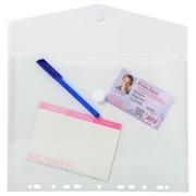 Pak van 5 geperforeerde envelop showtassen PP 20/100ste - met klittenband sluiting - A4