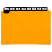 Paquet de 24 guides alphabétiques en carte à onglets métalliques, pour fiches 148x210mm.