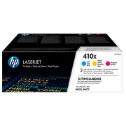 HP 410X, pack 3 toners high capacity colors