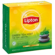 Box of 100 Lipton green tea mint