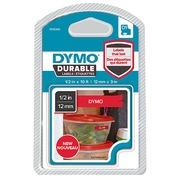 Rubans Dymo D1 12 mm Durable rouge écriture blanche
