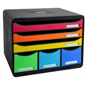 Classifying module Exacompta Iderama Store Box 6 drawers multicolored