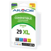 Pack cartouche Amor compatible Epson 29 - 4 couleurs pour imprimante jet d'encre