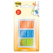 Page markers 'Sign here' assorted colors Post-it - dispenser of 20 sheets