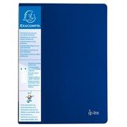 Schichtmappe aus festem PP 800µ mit 30 Hüllen und Etikett auf 3 Seiten, für Format DIN A4 - Blau (88302E)